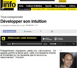 "Interview Isabelle Fontaine ""Développer son intuition"" sur France Info"