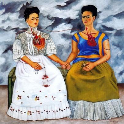 Frida Kahlo Les deux frida Le coeur est intelligent. Il est une des voies d'accès à notre intuition et notre intelligence intuitive.