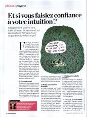 Et si vous faisiez confiance à votre intuition? isabelle Fontaine, livre intuition Le parisien magazine