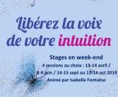 Stage Libérez la voix de votre intuition isabelle fontaine