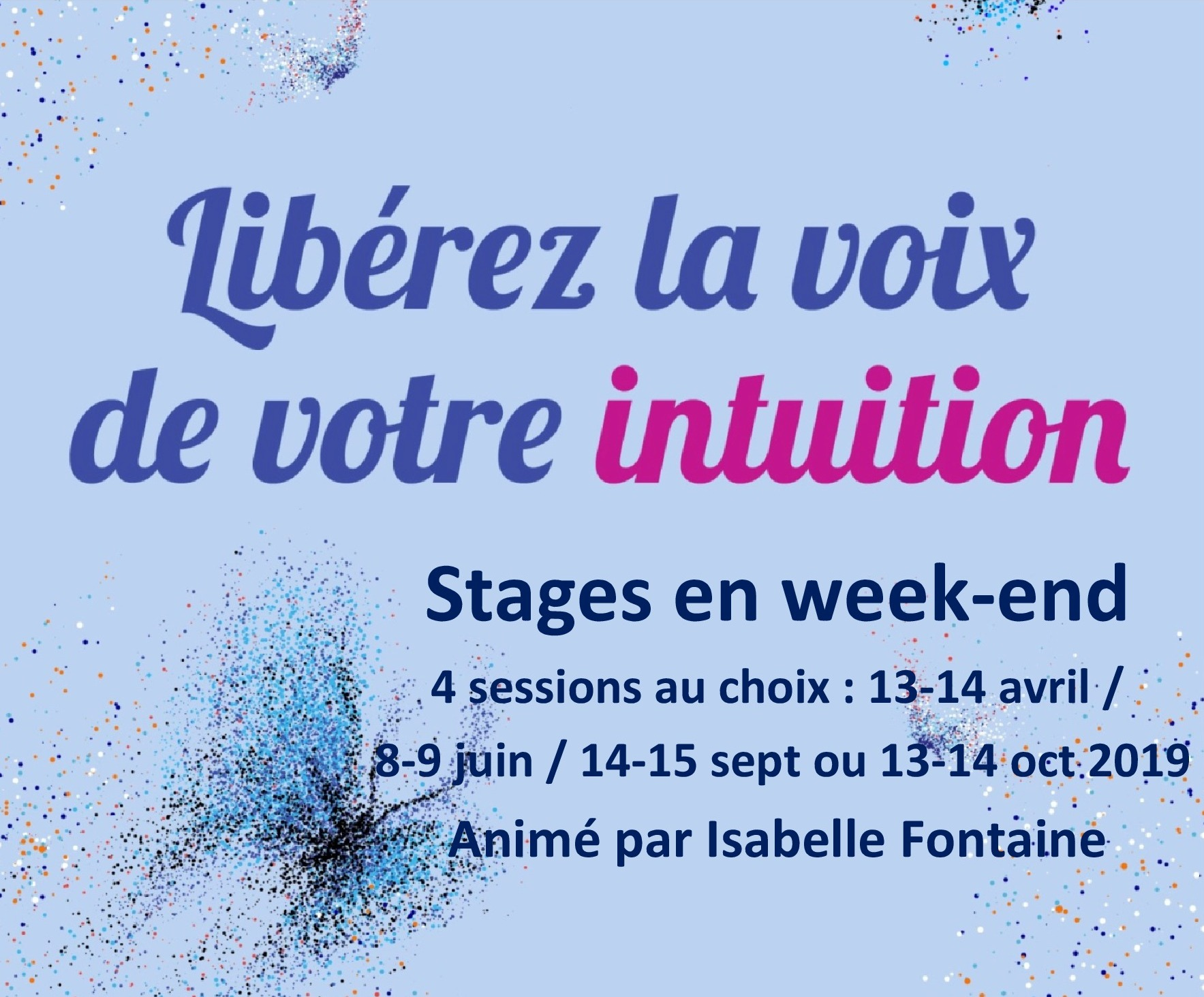stage intuition 2019 isabelle fontaine