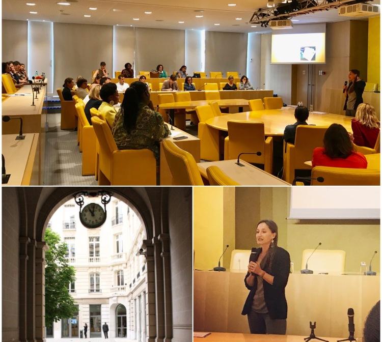 Conférence-débat autour de l'intuition, animée par Isabelle Fontaine, lundi 2 juillet 2019 à la Fédération nationale de Crédit Agricole (FNCA), Paris.