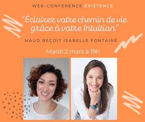 Web-conférence : «Eclairez votre chemin de vie grâce à votre intuition», mardi 2 mars19h00